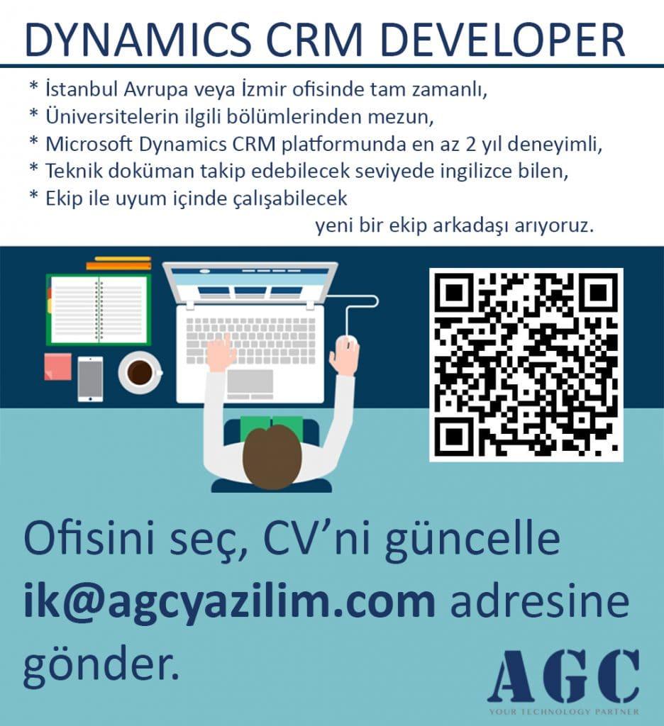 Dynamics CRM developer açık pozisyon duyurusu